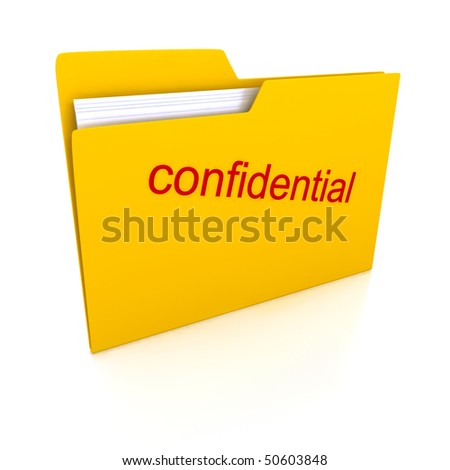 Folders over white background. 3d render - stock photo