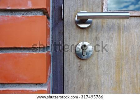 Folding Door knobs. - stock photo