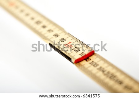 folding ruler - focus is on 1 meter