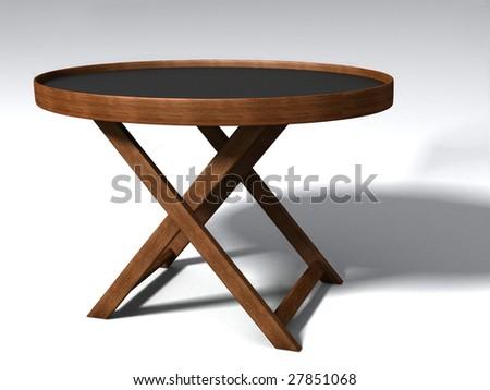 folding table - stock photo