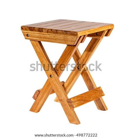 Folding wooden stool on a white background.  sc 1 st  Shutterstock : wood folding stool - islam-shia.org