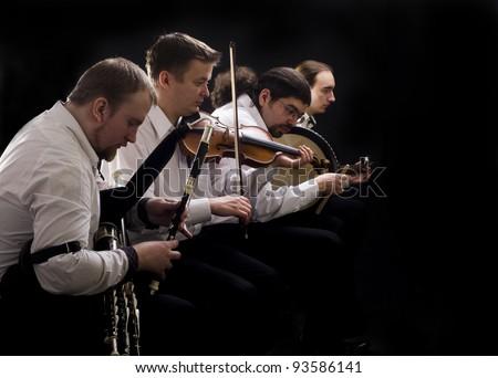 Folk music band - stock photo