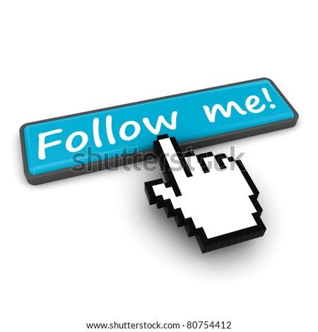 Follow me - stock photo