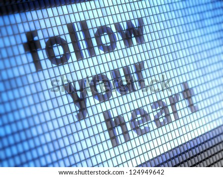 follow your heart  Full collection of icons like that is in my portfolio - stock photo