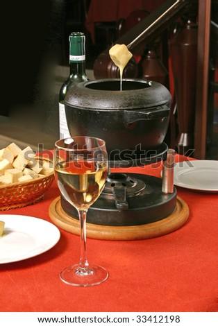 fondue - stock photo