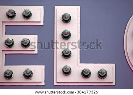 Font bulbs - stock photo