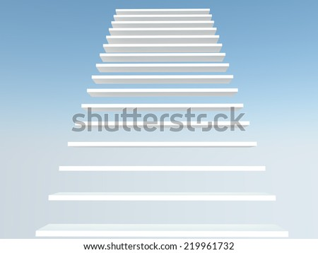 font view white staircase - stock photo