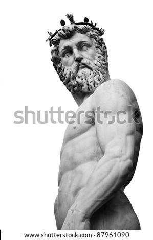 Fontana di Neptune at Florence Italy - stock photo