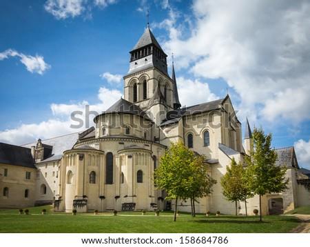 Fontevraud Abbey - stock photo