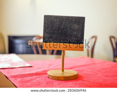 Food and drink tag, blackboard - stock photo