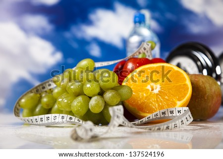 Food and measure tape , fitness