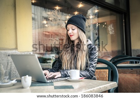 food and technology - stock photo
