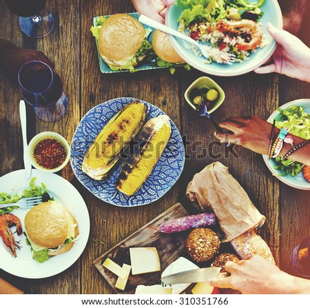 Food Appetiser Serve Luncheon Meal Concept - stock photo