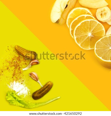 food background - stock photo