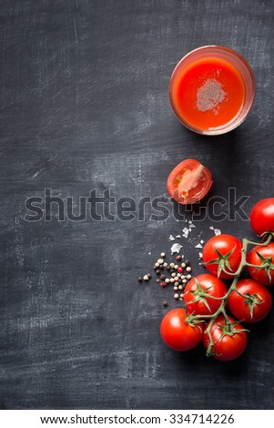 Food background tomato juice - stock photo