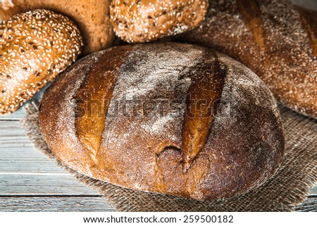 food. bread on a wooden background