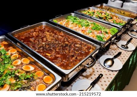 Food buffet in the Thailand - stock photo