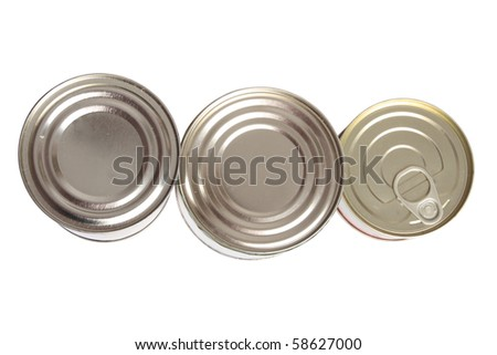 Food can on white background (isolated, clipping path)