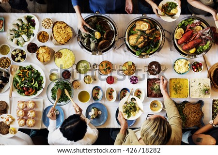 Food Catering Cuisine Culinary Gourmet Buffet Party Concept - stock photo