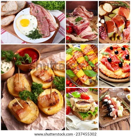 Food collage - stock photo