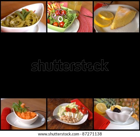 food collages - stock photo