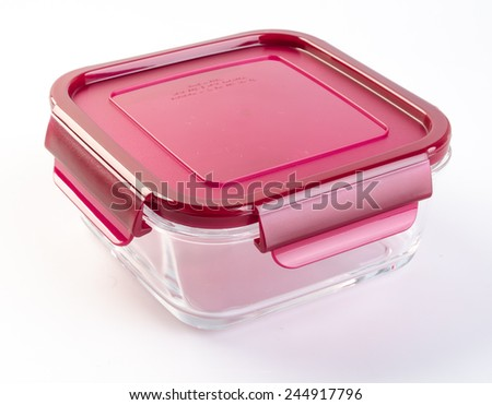 food containers on the background. glass food containers on the background. - stock photo