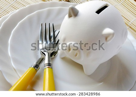 food expenses - economy and finance - poverty - stock photo