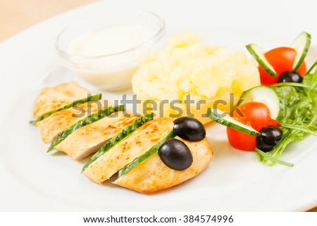 food for kids - stock photo