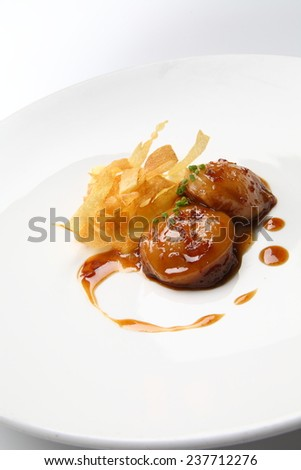 food gourmet scallop  - stock photo