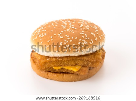 food : hamburgers on white background