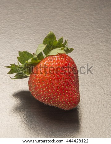 Food high in antioxidants /Healthy Fruit/Recently picked ripe strawberries ready to be enjoyed. - stock photo