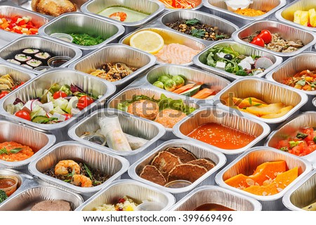 Food in the containers  - stock photo