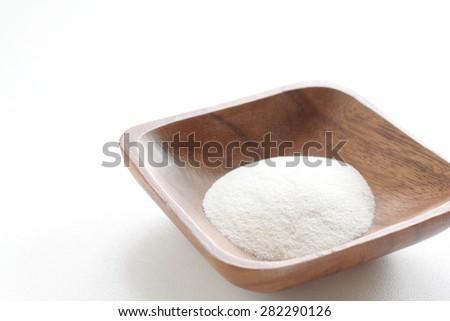 Food ingredient, Agar gelatin powder - stock photo