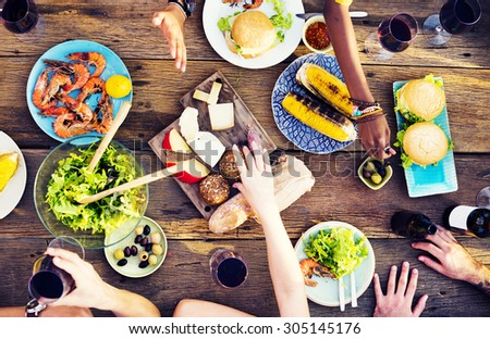 Food Lunch Celebration Party Flavors Concept - stock photo