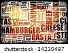 Food Menu Background as Grunge Template Mat - stock photo