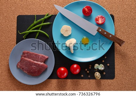 food on a rustic background