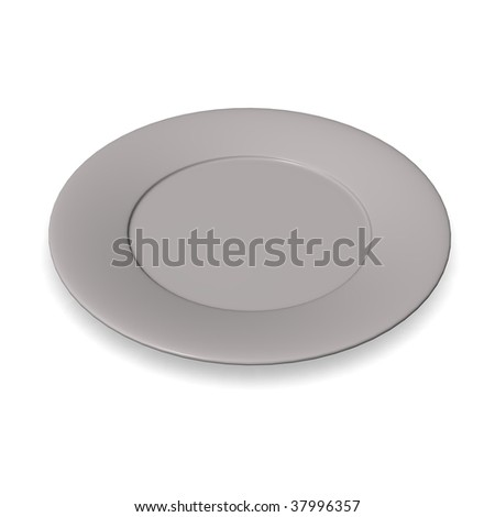 food plate - stock photo