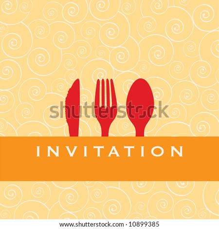 Food - restaurant - menu design with cutlery silhouette - stock photo