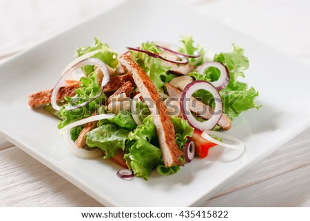 Food Salad Tasty Fresh Snack Dining Cuisine Healthy Eating Concept - stock photo