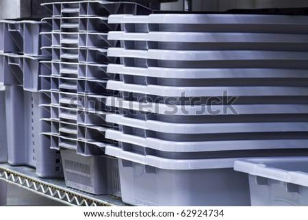 Food storage pans - stock photo
