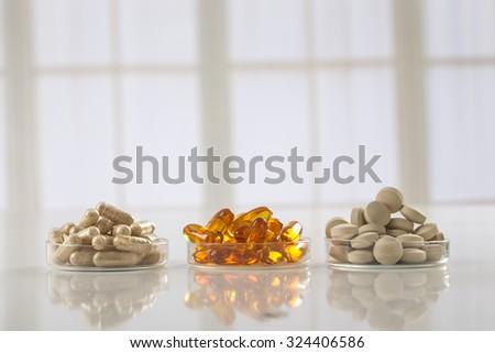Food Supplement - stock photo