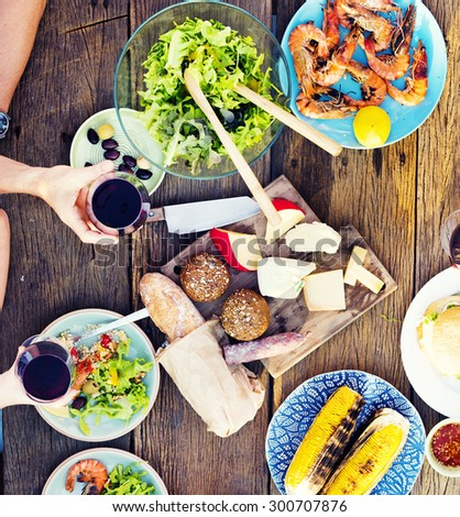 Food Table Celebration Delicious Party Meal Concept - stock photo