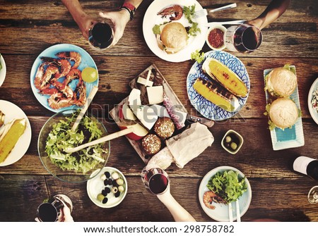 Food Table Delicious  Meal Prepare Cuisine Concept - stock photo