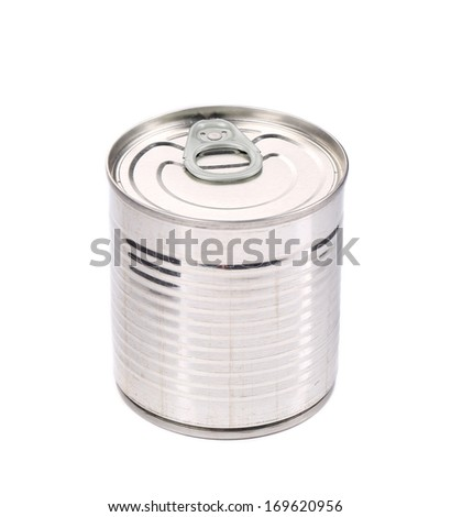 Food Tin Can. Isolated on a white background.
