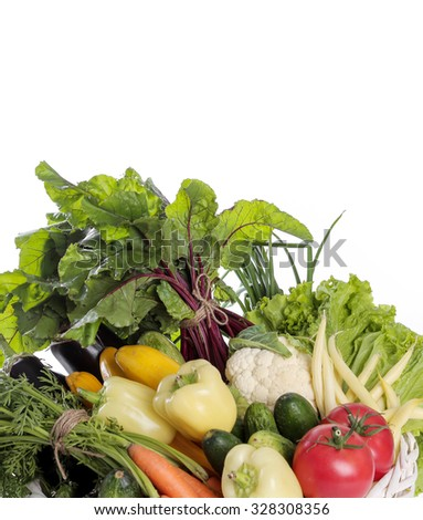 Food. Vegetables on the table