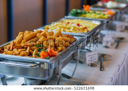 Food Wedding Catering Stock Photo 522611698