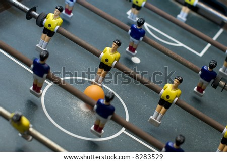 foosball game diagonal composition - stock photo