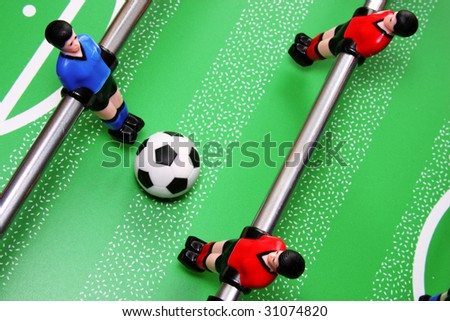 foosball match - stock photo