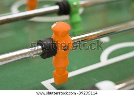 Foosball player figure - stock photo