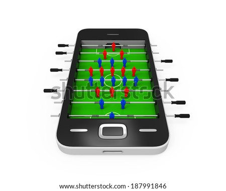 Foosball Table in Mobile Phone